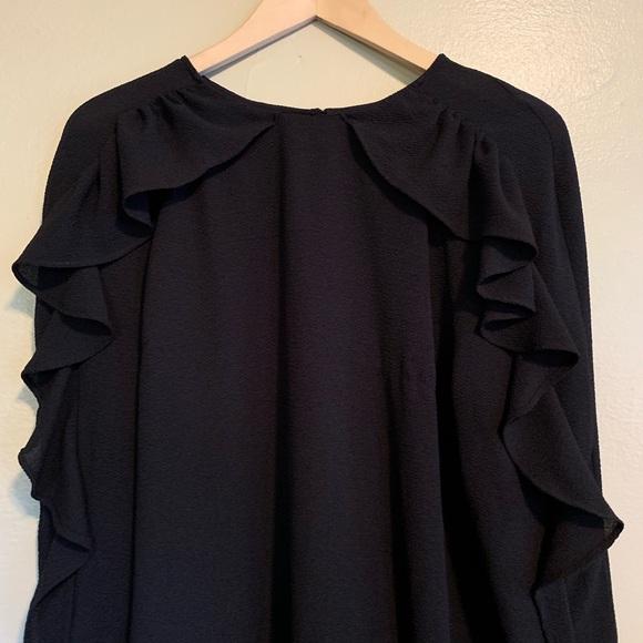 H&M Dresses & Skirts - H & M   Black Ruffle Sleeve Dress   14